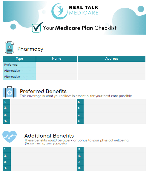 Find the Right Medicare Plan Checklist