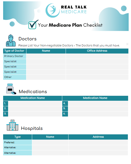 Find the Right Medicare Plan Checklist Page 1